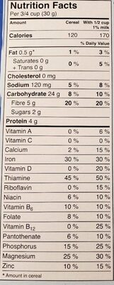 Bran flakes cereal - Informations nutritionnelles - fr