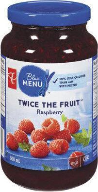 Twice the fruit raspberry spread - Product - fr