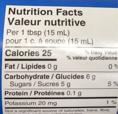 Twice the fruit raspberry spread - Nutrition facts