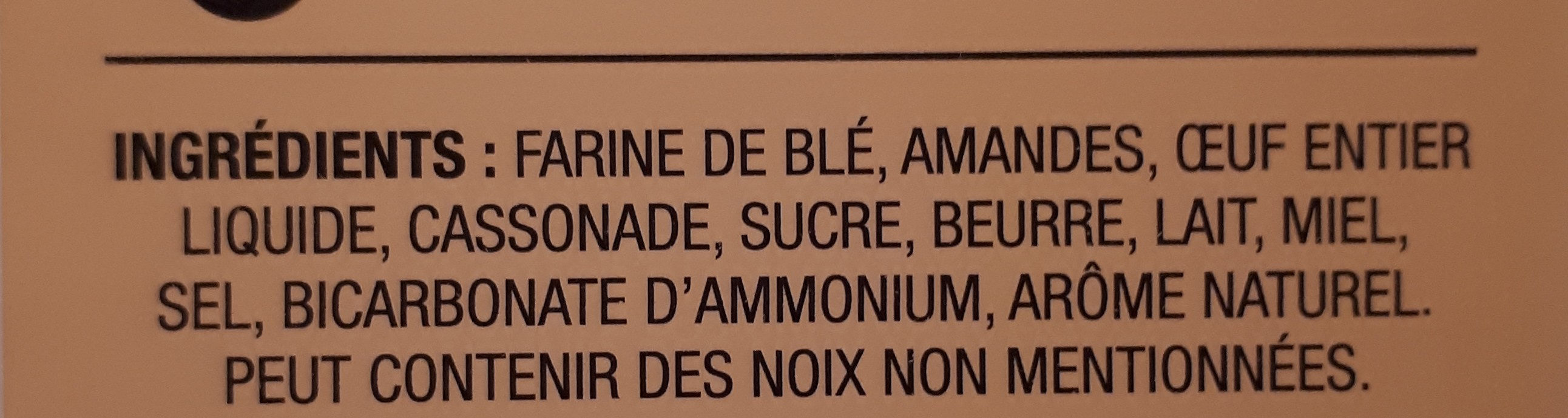 Almond cantuccini mini biscotti - Ingrédients - fr