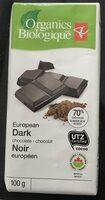 European dark chocolate - Produit - fr