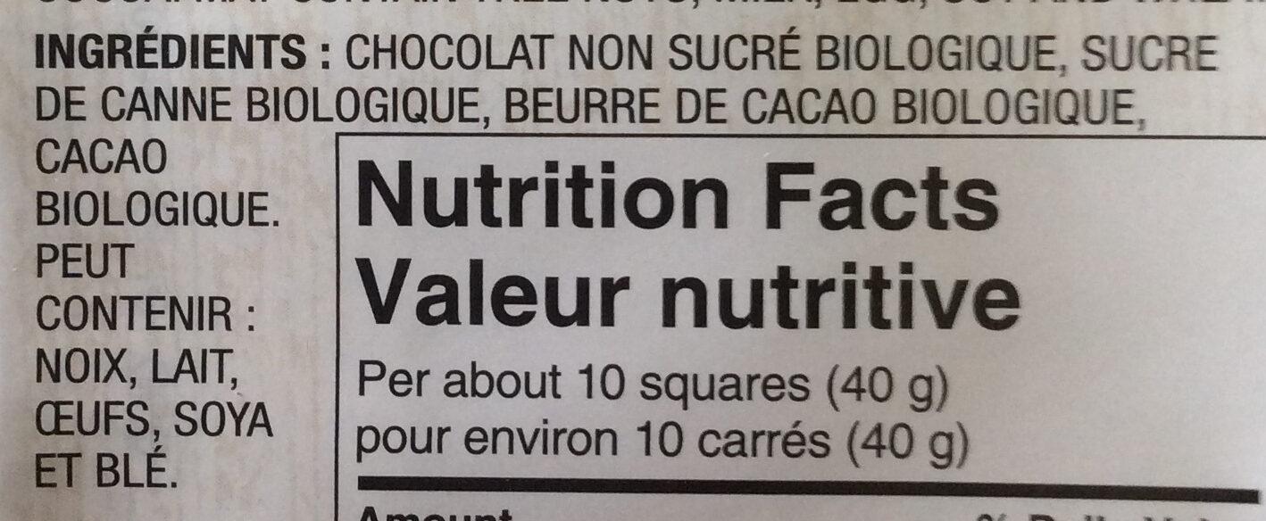 European dark chocolate - Ingrédients - fr