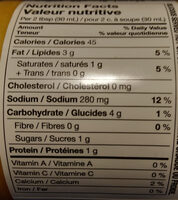 Salsa Con Queso - Nutrition facts