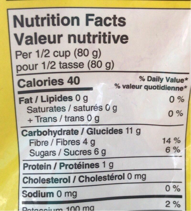 Fruit congeler - Informations nutritionnelles - en