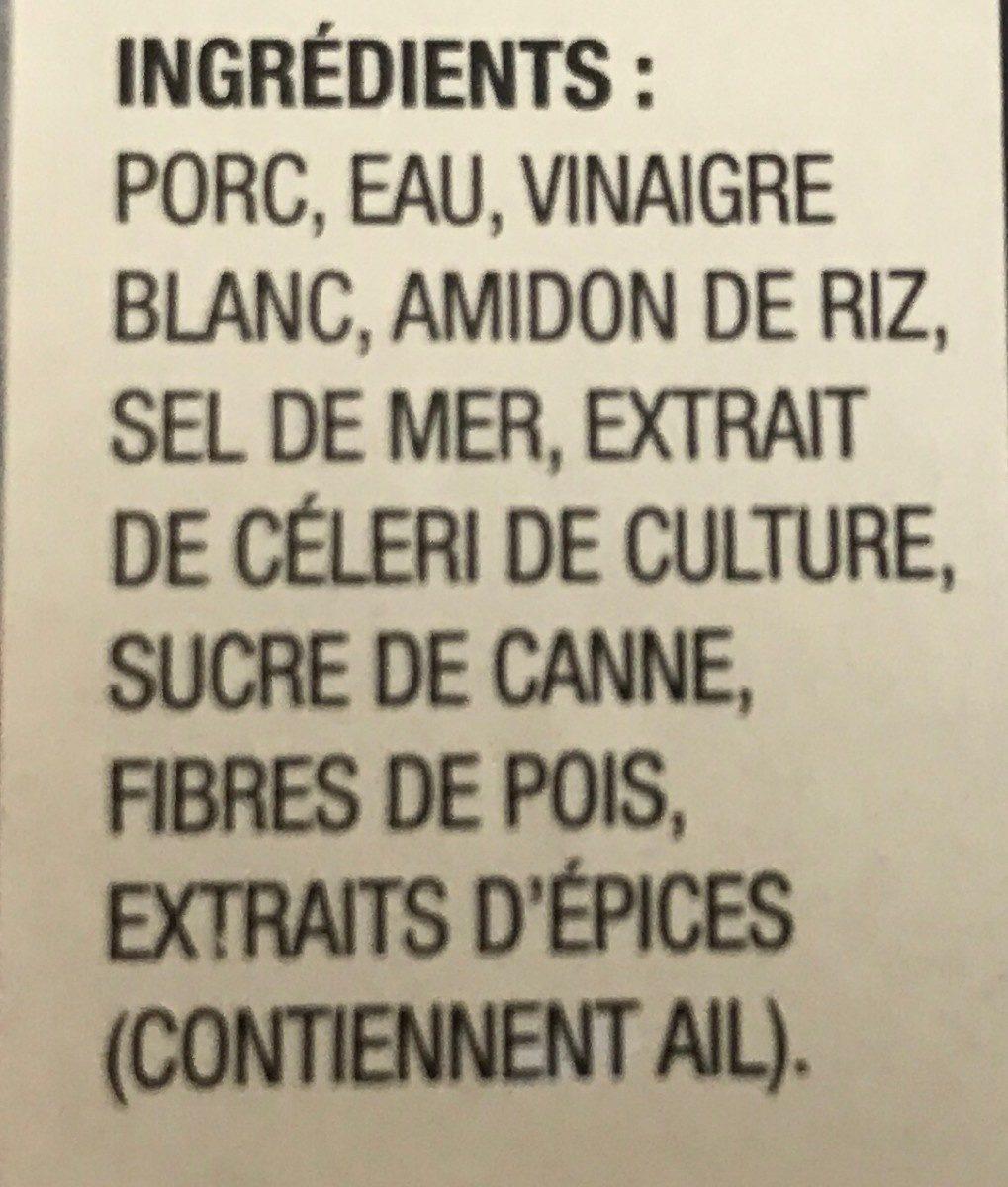 Extra lean stone roasted ham - Ingredients - fr