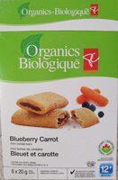 Blueberry carrot mini cereal bars - Produit - fr