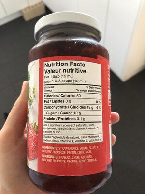 Pure Strawberry fraises - Informations nutritionnelles - fr