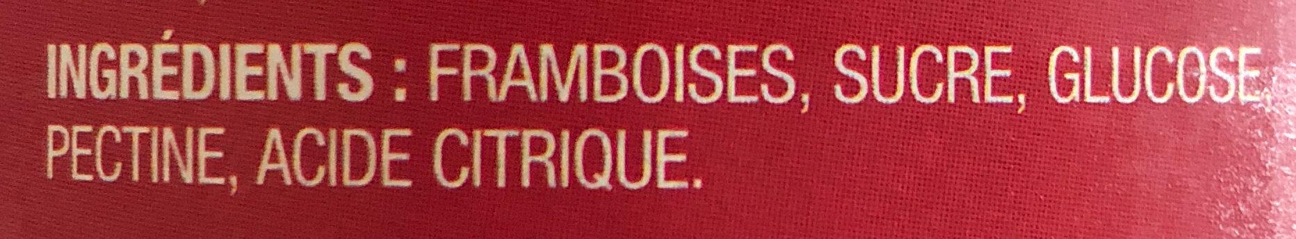 Pure raspberry jam - Ingrédients - fr