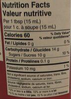 Pure raspberry jam - Informations nutritionnelles - fr