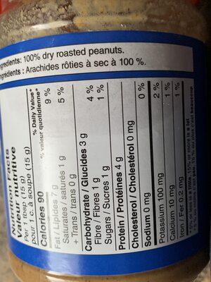 Beurre d'arachide croquant - Informazioni nutrizionali - fr