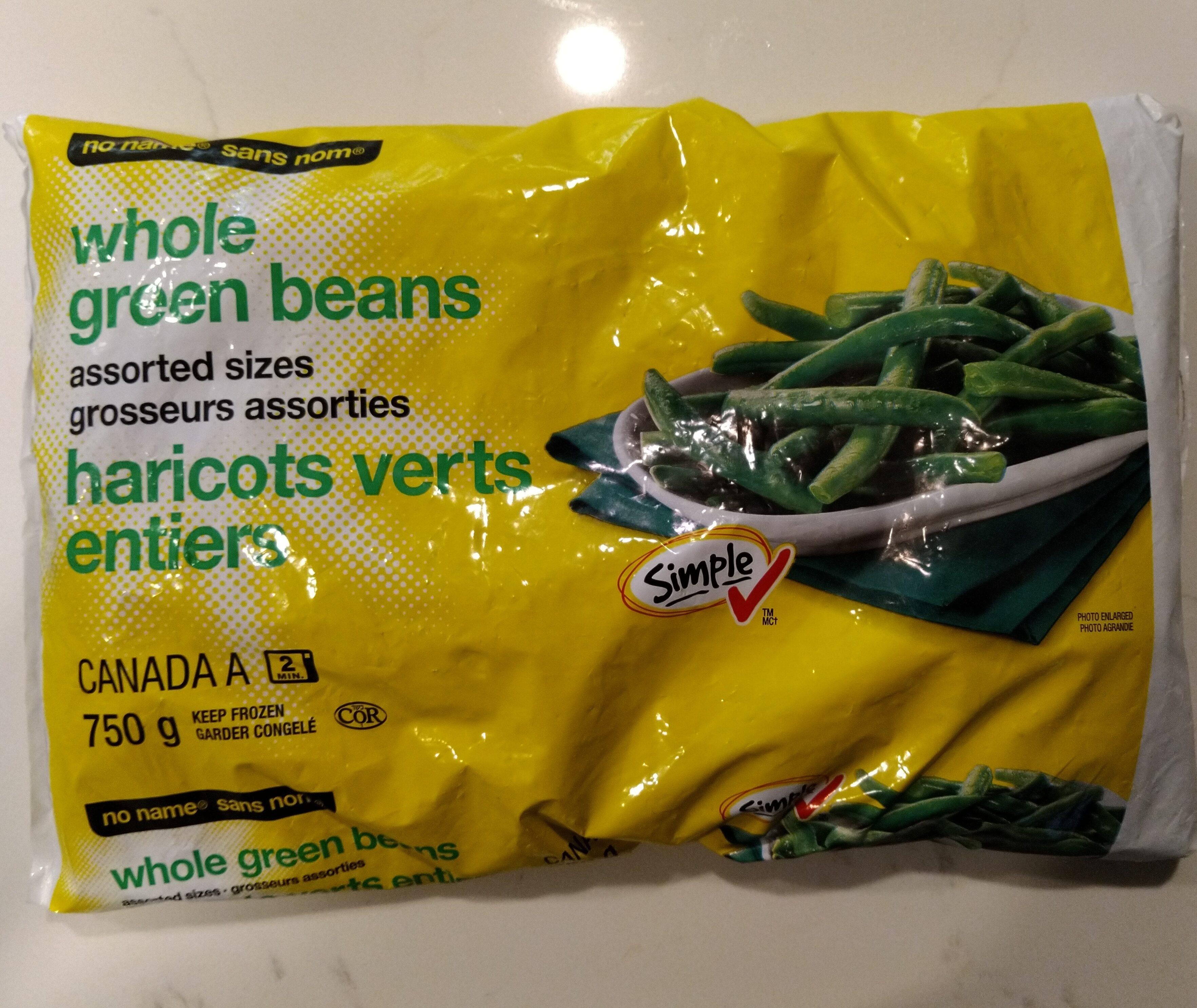 Whole green beans - Produit - en