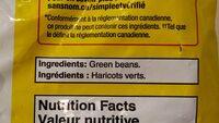 Whole green beans - Ingrédients - en