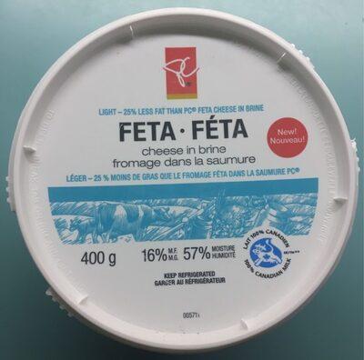 Light feta cheese in brine - Product - en