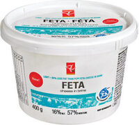 Light feta cheese in brine - Produit - fr