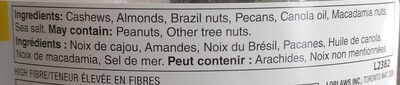 Deluxe mixed nuts - Ingrédients - en