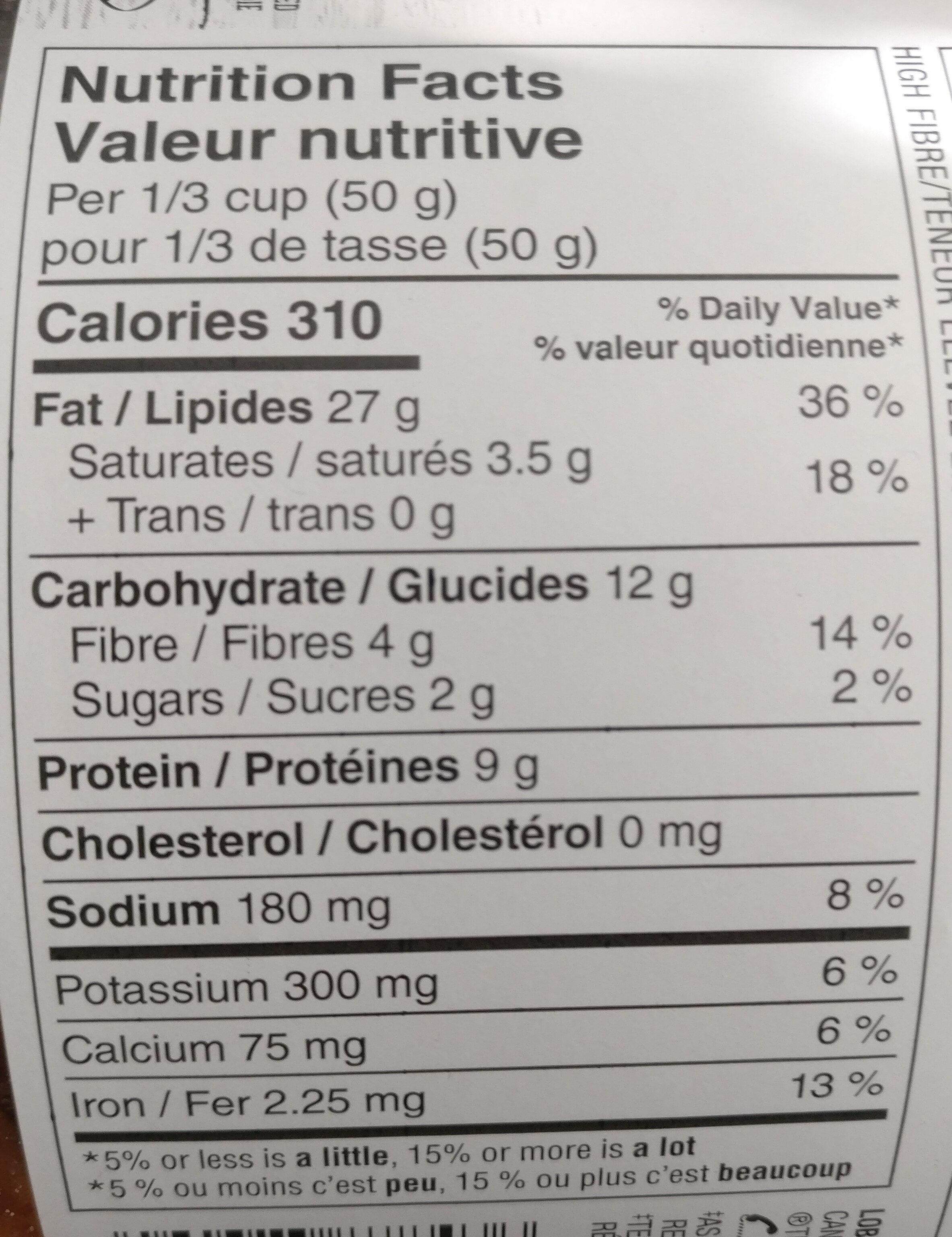 Deluxe mixed nuts - Informations nutritionnelles - en