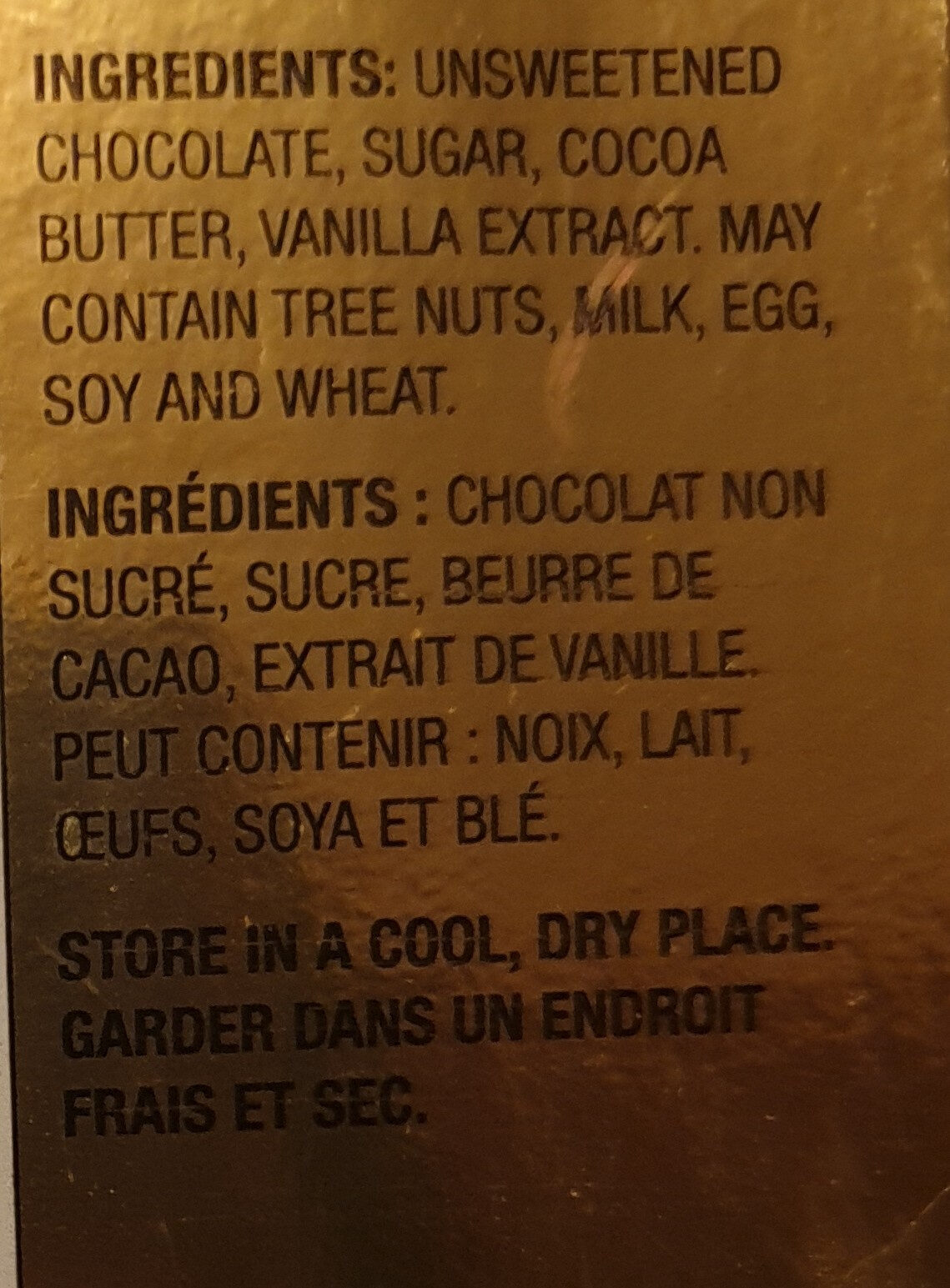 Cocoa solids extra dark chocolate - Ingredients - en