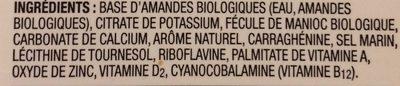 Original unsweetened fortified almond beverage - Ingredients - fr
