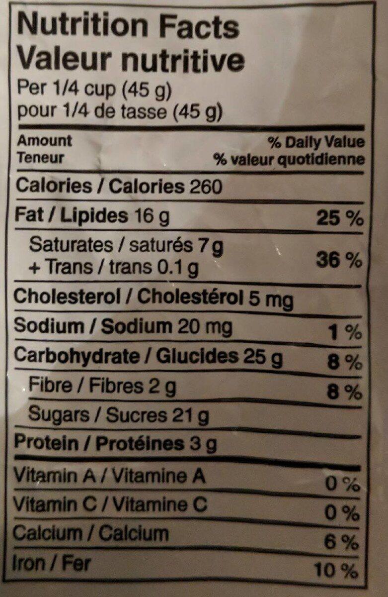 Amendes enrobées de chocolat au lait - Nutrition facts - fr
