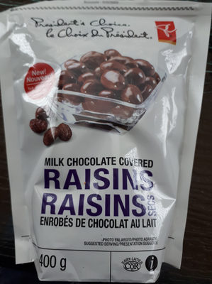 Raisins enrobés de chocolat - Product