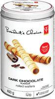 Dark chocolate rolled wafers - Produit - en