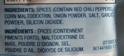 blue menu taco seasoning - Ingredients