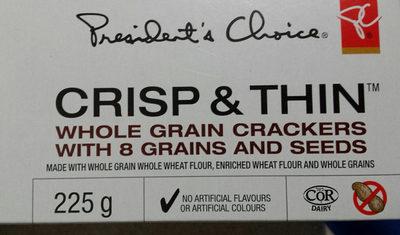 Crisp & thin whole grain crackers with grains and seeds - Produit - en