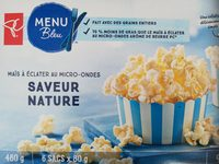 President's Choice Blue Menu Natural Flavor Microwave Popcorn - Product - fr