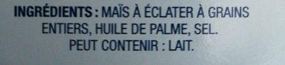 President's Choice Blue Menu Natural Flavor Microwave Popcorn - Ingredients - fr
