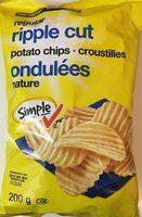 Croustilles ondulées nature - Produit - fr