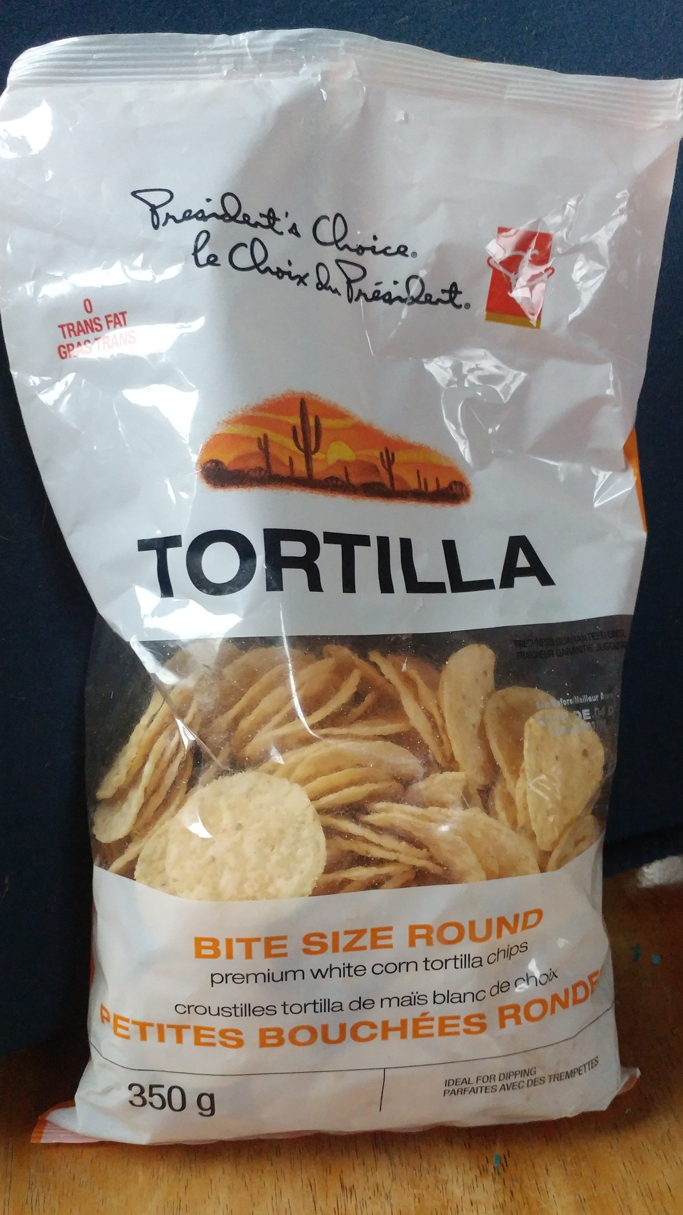Tortilla bite size round premium white corn tortilla chips - Produit - en