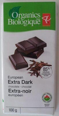 President's Choice Organics European Extra Dark Chocolate - Produit - fr