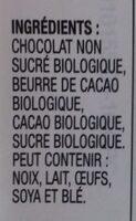 European extra dark chocolate - Ingrédients - fr