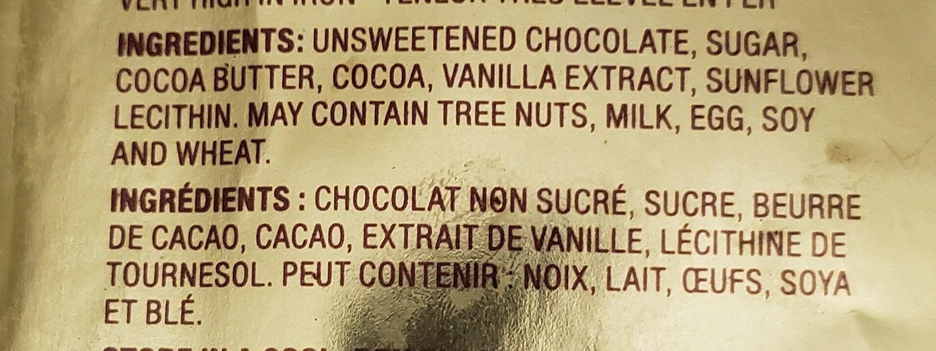 Cocoa solids dark chocolate - Ingredients - en