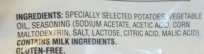 Lays salt & vinegar - Ingrédients - en