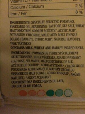 Potato Chips Sea Salt & Vinegar - Ingrediënten