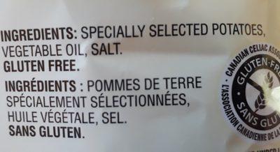 Croustilles Ondulées - Ingredients - fr