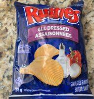 Ruffles Potato Chips All Dressed Flavour - Produit - fr