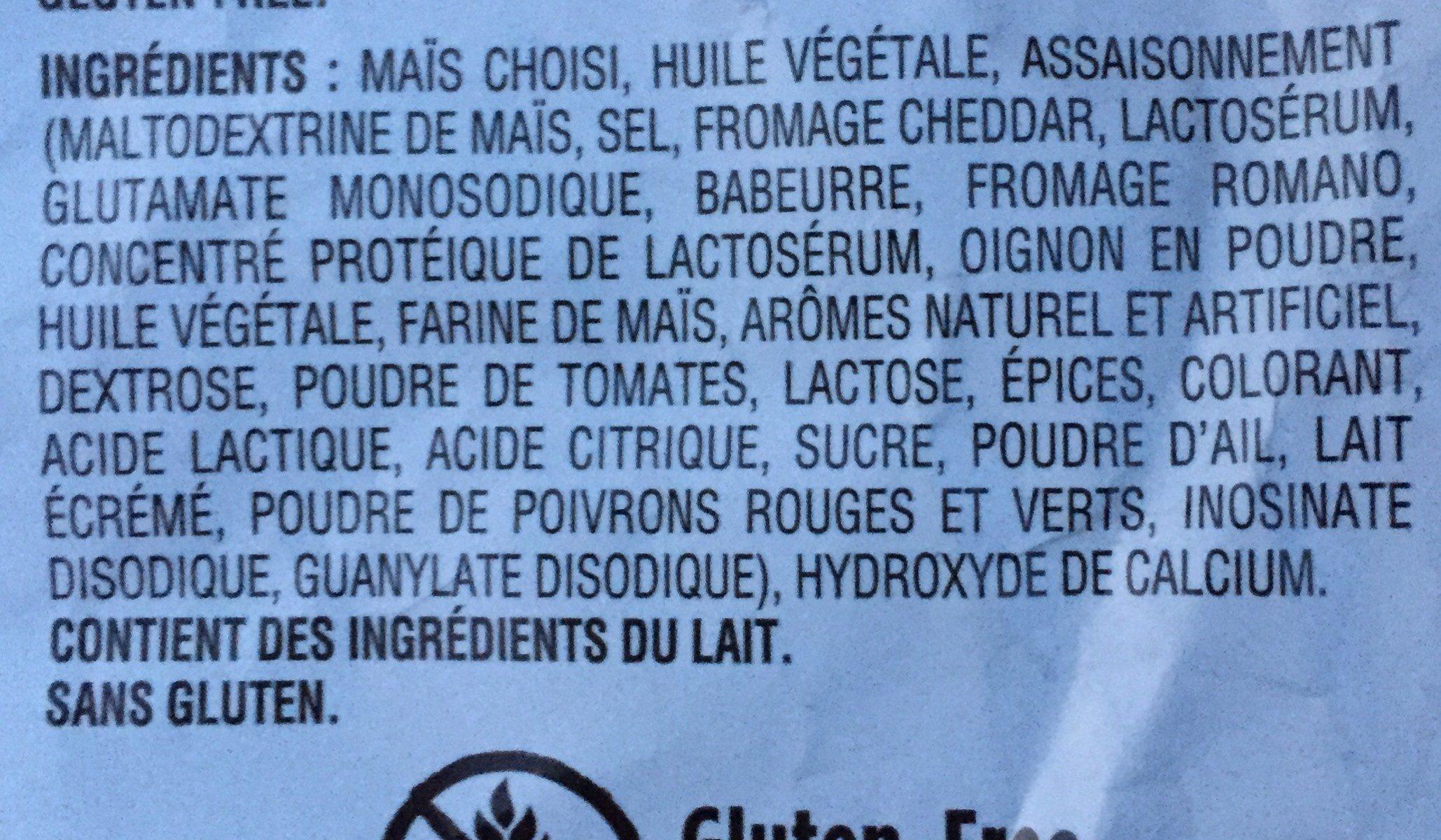 Tortilla Chips Nacho Cheese - Ingrédients
