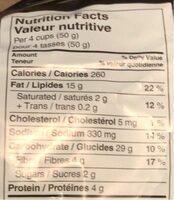Popcorn jalapeno cheddar - Informations nutritionnelles - fr