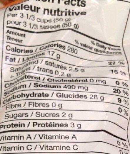 Squellettes en sac - Informations nutritionnelles - en