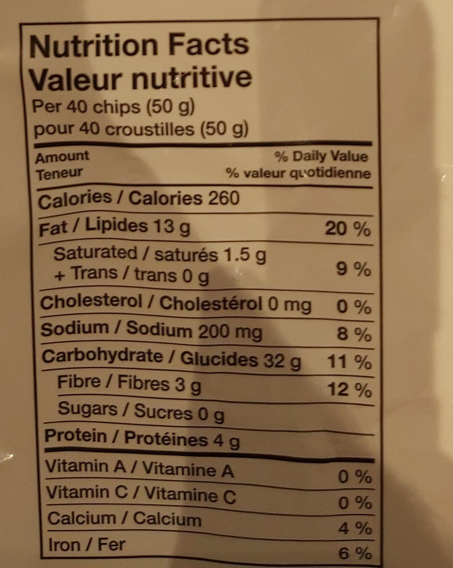 Tostitos - Nutrition facts - en