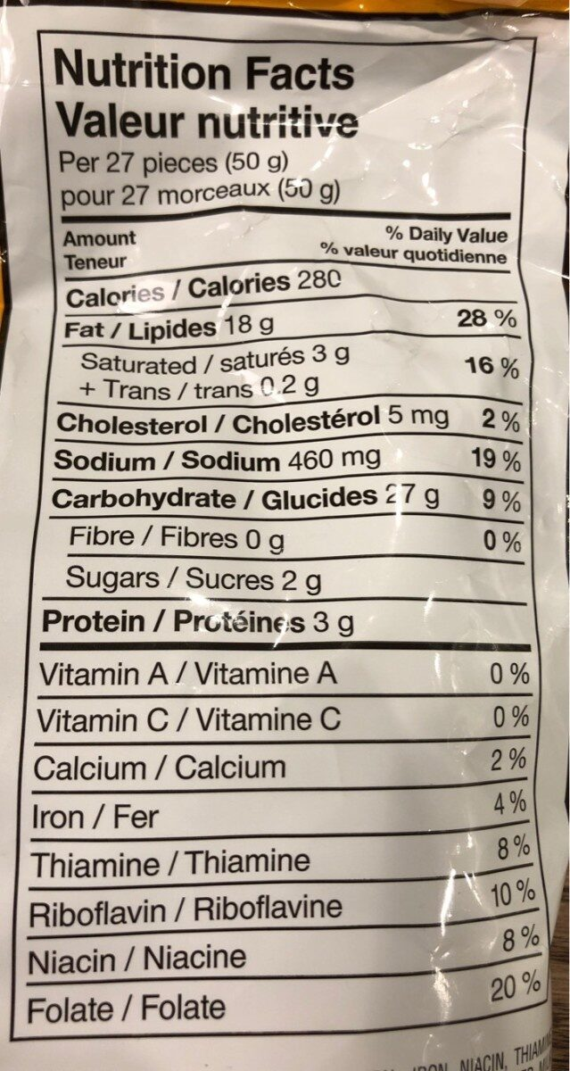 Puffs soufflés - Informations nutritionnelles - fr