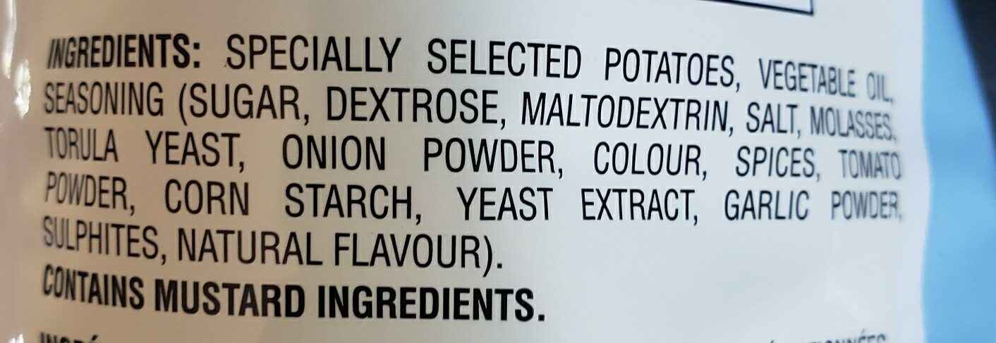 Lays BarBQ lightly salted - Ingredients - en