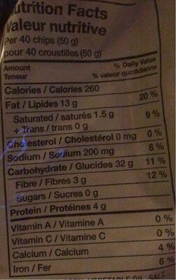 Chips Tostitos - Informations nutritionnelles - fr