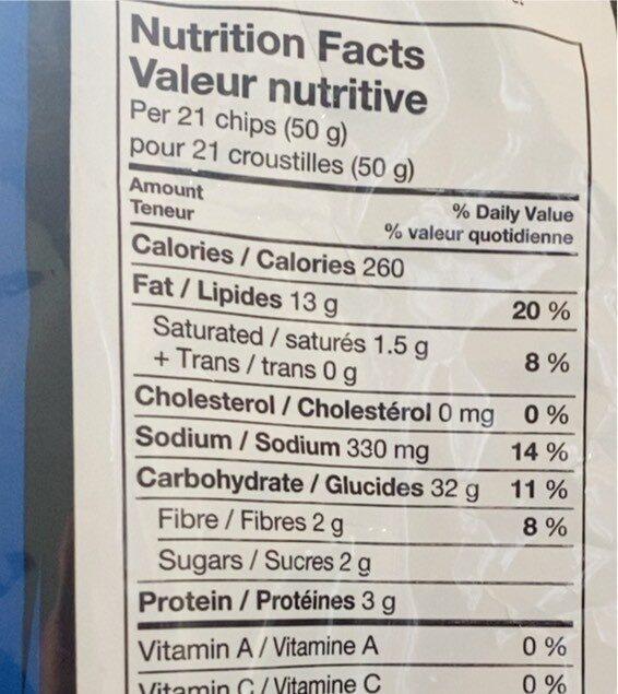 Cool Ranch - Nutrition facts - en