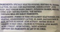 Croustilles (sel Marin & Vinaigre De Malt) - Ingrédients