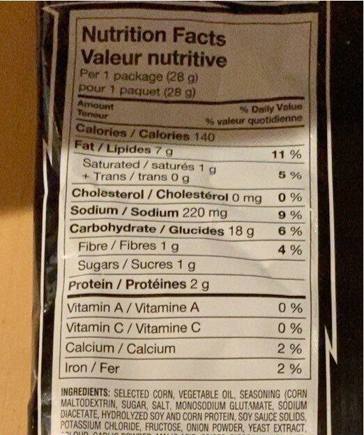 Doritos Sweet Chili Heat - Informations nutritionnelles - en