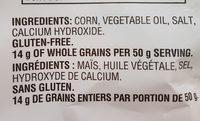 Tortilla Chips Restaurant Style - Ingredients - fr