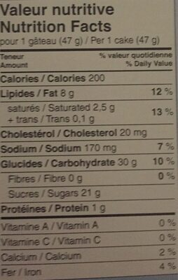 Demi-Lune - Nutrition facts